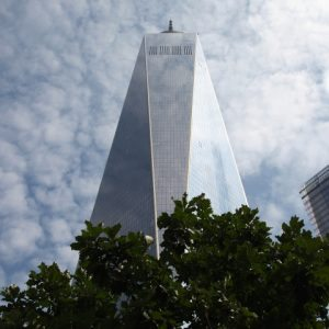 Looking up at the World Trade Center, Freedom Tower